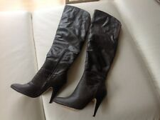 BUFFALO Overknees Dunkelgrau Elegant Damen Gr.38 Stiefel High Boots Damenschuhe