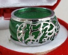 Jade unsizable Round Costume Rings