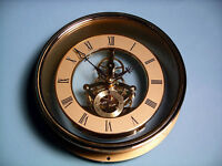 150mm GOLD SKELETON QUARTZ CLOCK  insert movement