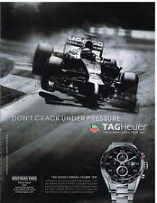 Publicité Advertising 2014 La Montre Tag Heuer Carrera calibre 1887