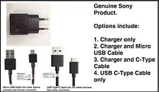 Genuine Sony UCH 20 EU Mains Charger & USB Cable for Sony Xperia Mobiles