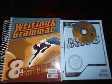 Bob Jones Writing & Grammar 8 Teacher set BJU homeschooling English 8th grade