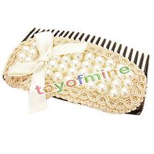 Moda coreano bella gioielli di perle accessori per capelli arco pettine gioielli