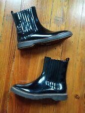 Brunello Cucinelli Glossy leather Chelsea Boots! Sz 40/10. Super.Chic!!