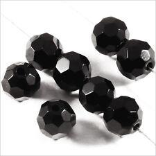 Lote de 20 dijes facetadas 6mm en Cristal Bohemía Negro