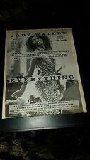Jody Watley Everything Rare Original Radio Promo Poster Ad Framed!