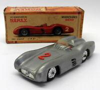 Norev 1/43 Scale Vintage Plastic - 12 Mercedes Benz Competition Silver #2
