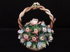 Capodimonte Figural Flower Basket Lot 216