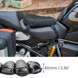 Motorcycle Universal Air Pad Airbag Seat Cushion Cover+Pump Accessories 36x38cm