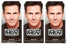 Just For Men Mens Shampoo Hair Colour Color Dye Real Black H55 Permanent Wash In
