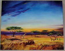 MARTIN KATON AFRICA AT PEACE GICLEE ON CANVAS SIGNED #89/99 W/COA 30X24