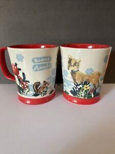 Anthropologie Mugs Coffee Cups Nathalie Lete Snowy Salutation Bonne Annee Set