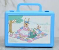 Vintage  Bunny Tales 1990 Lunch Box RARE MY BOX Lunch Box By Beachwood Ltd