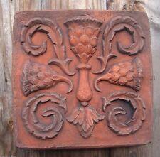 Scottish Thistle wall tile decorative stone terracotta colour wall plaque 21cmsq