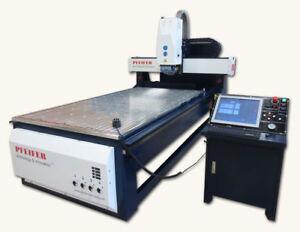 3D CNC Portal Fräsmaschine X1250 x Y2450mm Vakuum Tisch 5KW Hochfrequenz Spindel
