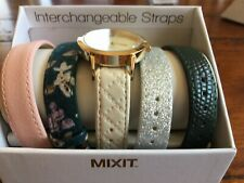 Mixit Ladies Quartz Watch with Four Additional Bands