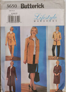 Butterick Sewing Pattern 3650 Skirt Jacket Dress 8-12 Wardrobe EASY Ladies UNCUT