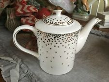 NICOLE MILLER NEW  TEA POT  GOLD CONFETTI ELEGANT