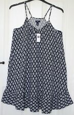 BNWT - £36.99 - Gap Adjustable Strappy Navy Blue & White Dress - S / Small