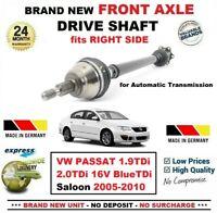 Pour VW Passat 1.9TDi 2.0TDi 16V Bleu Tdi Berline 2005-2010 avant Droit Arbre