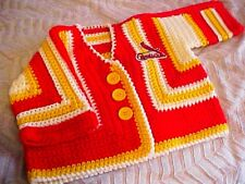 ST LOUIS CARDINALS Sweater-Red White Yellow-18-24 mo-OFFICIAL+ANGRY BIRD PATCH !