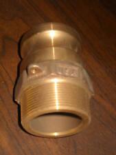 "PT Brass Hose Quick Connect Cam Lock Camlock 20F 2"" Male NPT New"