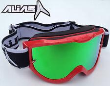 Occhiali da moto moto con lenti in verdi