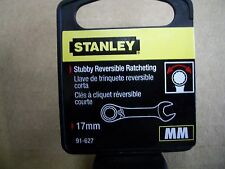 New STANLEY STUBBY  17 mm  Metric Reversible Ratchet Wrench    17 mm