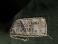 Vtg ARMY Sateen Shirt Cotton OG-107 Vietnam War Era 1969 Medium 15 1/2 X 32