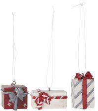 Ib Laursen 3er Set Päckchen Anhänger Geschenkanhänger Shabby Advent Weihnachten