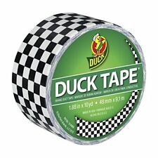 Duck Br& 280410 Printed Duct Tape Checker 1.88 Inches x 10 Yards Single Roll