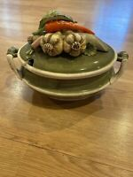 Vintage Arnart 5th Avenue Garden Harvest Soup Tureen & Lid Hand-Painted
