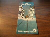 DECEMBER 1983 ALGOMA CENTRAL RAILWAY SNOW TRAIN TIMETABLE