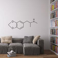 Molecular Structure Of MDMA Vinyl Wall Art for Home Decor / Interior Design /...