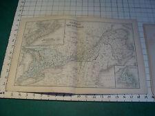"Vintage Original 1866 Mitchell Map: CANADA  map # 4 aprox 12 x 19"""