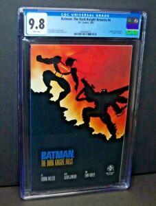 BATMAN: THE DARK KNIGHT RETURNS #4 CGC 9.8 - Batman Vs. Superman Battle Cover