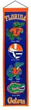 "Florida Gators Heritage Banner Embroidered Wool 32""x 8"" *Brand New*"