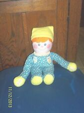 Vintage 1984 Fisher Price 1351 1352 Boy In Pjs Pajamas Plush Rattle Doll