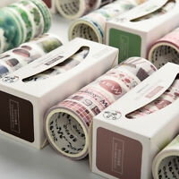 7 Rollen Vintage Washi Tape Aufkleber Masking Scrapbooking Tagebuch DIY Bastel