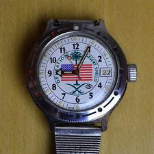 """Uhr Wostok """"Desert Shield"""" Made in USSR Wasserdicht 200m guter Zustand"""