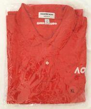 BN Men's Australian Open Country Road Red polo shirt, size XL
