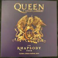 """QUEEN + ADAM LAMBERT : """"Global Citizen Tour 2019"""" (RARE CD)"""