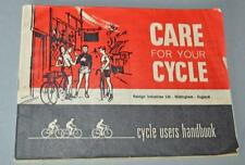 Old Raleigh Bicycles - Care For Your Cycle Booklet.