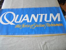 Vintage Fishing Store Display Banner Sign, Quantum  Very Nice, gas oil lures