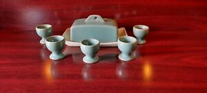 Denby Bourne Manor Green Butter Dish And Egg Cups