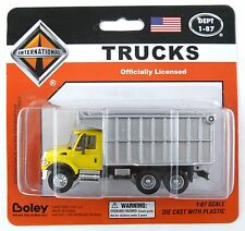 HO Scale International 3-Axle Dump Truck - Yellow & Gray - Boley #4511-86