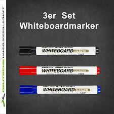 3er Set Stifte Whiteboardmarker Stift Marker trocken abwischbar Boardmarker Flip