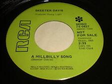 Skeeter Davis: A Hillbilly Song / Once 45