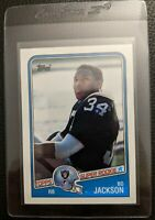 1988 TOPPS #327 BO JACKSON FOOTBALL ROOKIE CARD RAIDERS ROYALS GUM STAIN REVERSE