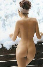 R 2 # Postkarte Pin-up girl nude nu Akt nudo Po butt Nudist Naturist nus Schnee